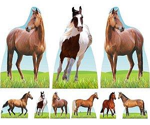 Kit 9 Festa Totem Display Aniversario Cavalo Fazenda
