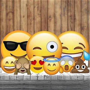Kit 9 Festa Completo Emoji Decoração Totem Display Ecoticon