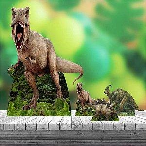 Kit 4 Totem Display Dinossauro Decoração Festa