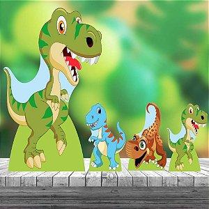 Kit 4 Totem Display Dinossauro Cute Decoração Festa