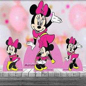 Kit 4 Totem Minnie Rosa Decoração Festa