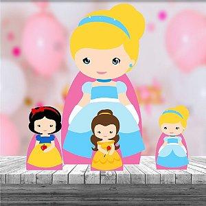 Kit 4 Totem Princesas Cute Decoração Festa