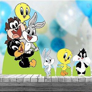 Kit 4 Totem Baby Looney Tunes Decoração Festa