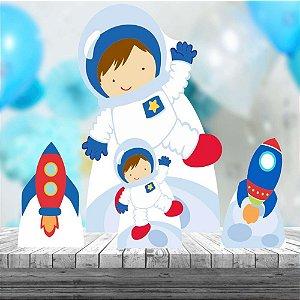 Kit 4 Display Astronauta decoração Festa
