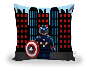 Capa De Almofada Capitão América LegoDecoração ALI-66
