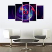 Quadro Mosaico Decoração Abstrato 5 Peças Mdf Mod 5