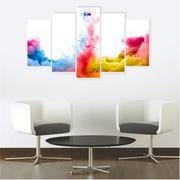 Quadro Mosaico Decoração Abstrato 5 Peças Mdf Mod 11