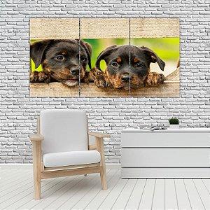 Quadro Mosaico Decoração Animal 121x65 com 3 Peças Mod 03