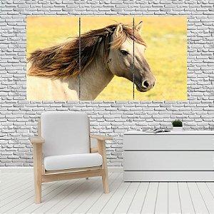 Quadro Mosaico Decoração Animal 121x65 com 3 Peças Mod 10