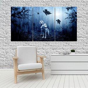 Quadro Mosaico Decoração Animal 121x65 com 3 Peças Mod 16