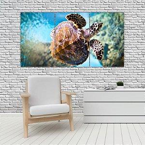 Quadro Mosaico Decoração Animal 121x65 com 3 Peças Mod 27