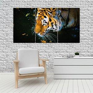 Quadro Mosaico Decoração Animal 121x65 com 3 Peças Mod 31