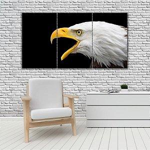 Quadro Mosaico Decoração Animal 121x65 com 3 Peças Mod 34