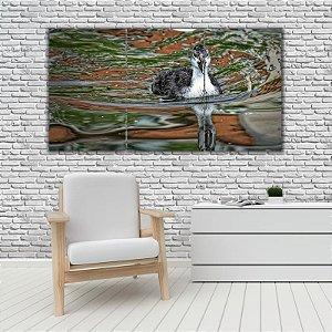 Quadro Mosaico Decoração Animal 121x65 com 3 Peças Mod 38