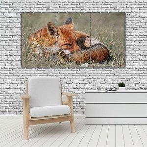 Quadro Mosaico Decoração Animal 121x65 com 3 Peças Mod 40