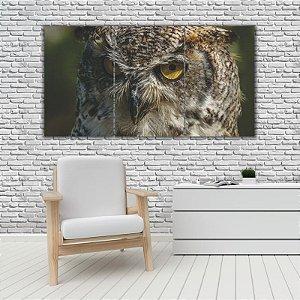 Quadro Mosaico Decoração Animal 121x65 com 3 Peças Mod 50