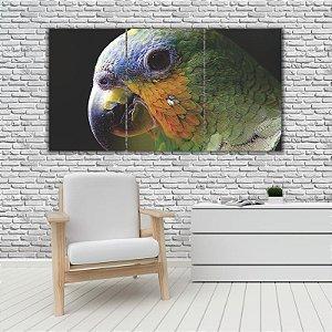 Quadro Mosaico Decoração Animal 121x65 com 3 Peças Mod 51