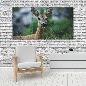 Quadro Mosaico Decoração Animal 121x65 com 3 Peças Mod 53