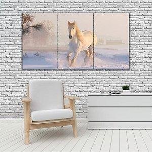 Quadro Mosaico Decoração Animal 121x65 com 3 Peças Mod 56