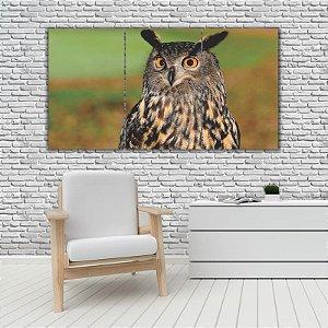 Quadro Mosaico Decoração Animal 121x65 com 3 Peças Mod 58