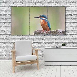 Quadro Mosaico Decoração Animal 121x65 com 3 Peças Mod 59