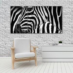 Quadro Mosaico Decoração Animal 121x65 com 3 Peças Mod 69