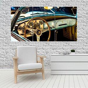 Quadro Mosaico Decoração Carros 121x65 com 3 Peças Mod 02