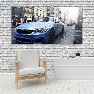 Quadro Mosaico Decoração Carros 121x65 com 3 Peças Mod 08
