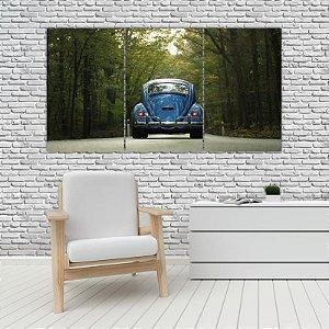 Quadro Mosaico Decoração Carros 121x65 com 3 Peças Mod 10