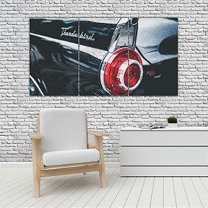 Quadro Mosaico Decoração Carros 121x65 com 3 Peças Mod 16