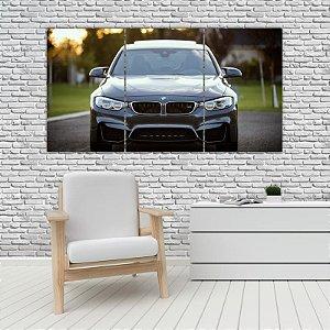 Quadro Mosaico Decoração Carros 121x65 com 3 Peças Mod 18