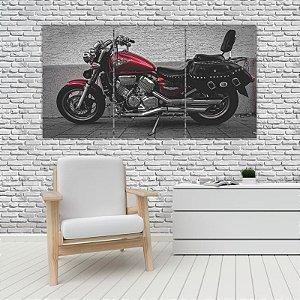 Quadro Mosaico Decoração Carros 121x65 com 3 Peças Mod 25
