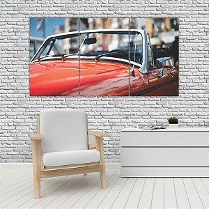 Quadro Mosaico Decoração Carros 121x65 com 3 Peças Mod 28