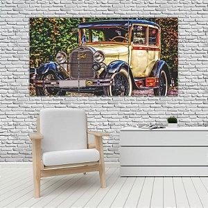 Quadro Mosaico Decoração Carros 121x65 com 3 Peças Mod 32