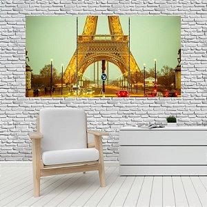 Quadro Mosaico Decoração Cidades 121x65 com 3 Peças Mod 06
