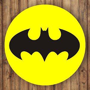Painel Tecido Redondo Batman Decoração Festa 01