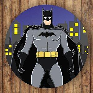 Painel Tecido Redondo Batman Decoração Festa 03