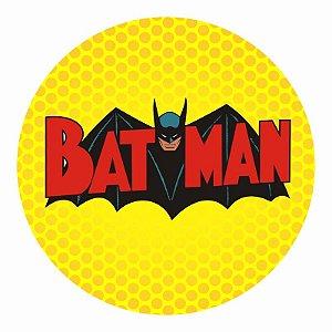 Painel Tecido Redondo Batman Decoração Festa 04