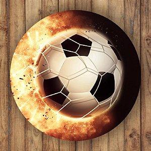 Painel Tecido Redondo Futebol Decoração Festa 03
