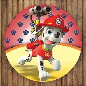 Painel Tecido Redondo Patrulha Canina Decoração Festa 02