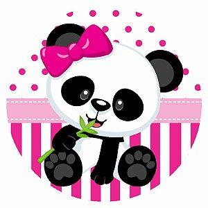 Painel Tecido Redondo Panda Menina Decoração Festa 02