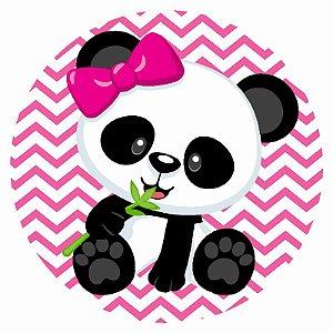 Painel Tecido Redondo Panda Menina Decoração Festa 04