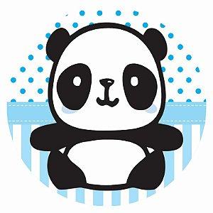 Painel Tecido Redondo Panda Menino Decoração Festa 01