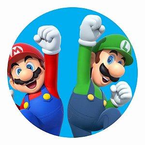 Painel Tecido Redondo Super Mario Decoração Festa 05