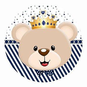 Painel Tecido Redondo Ursinho Principe Decoração Festa 08