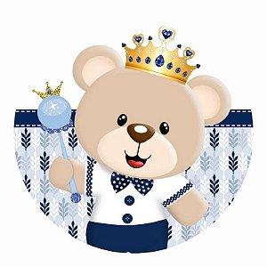 Painel Tecido Redondo Ursinho Principe Decoração Festa 10