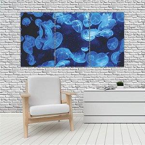Quadro Mosaico Decoração Animal 121x65 com 3 Peças Mod 72