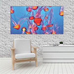 Quadro Mosaico Decoração Animal 121x65 com 3 Peças Mod 85