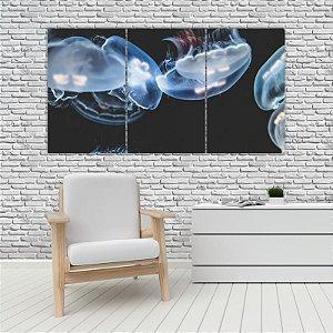 Quadro Mosaico Decoração Animal 121x65 com 3 Peças Mod 88