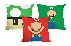 3 Capa De Almofada Divertida Decoração Super Mario